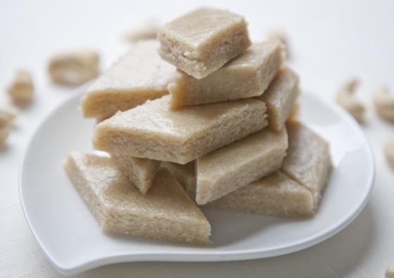 cardamom cashew fudge