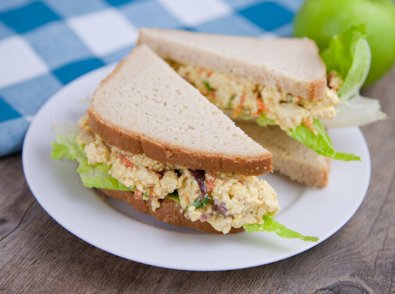 Tofu Eggless Salad