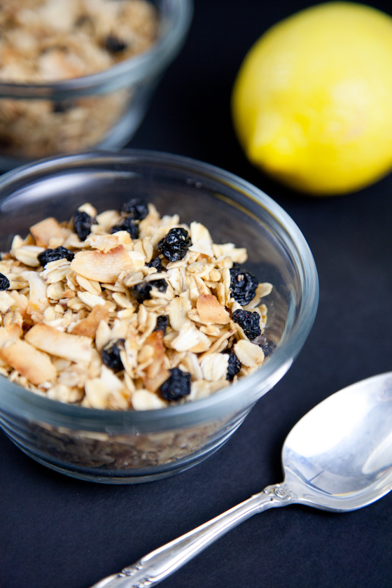 Lemon Blueberry Coconut Granola
