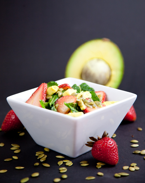 Baby Kale Strawberry Avocado Salad