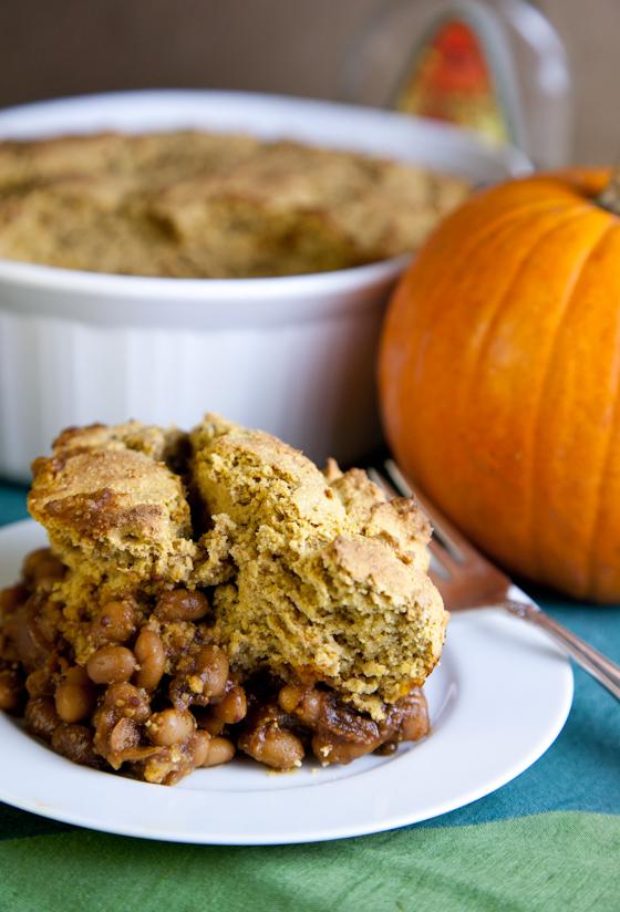 Vegan Cornbread Baked Bean Casserole