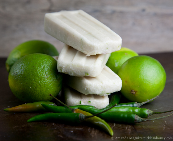 Spicy Coconut Lime Popsicles