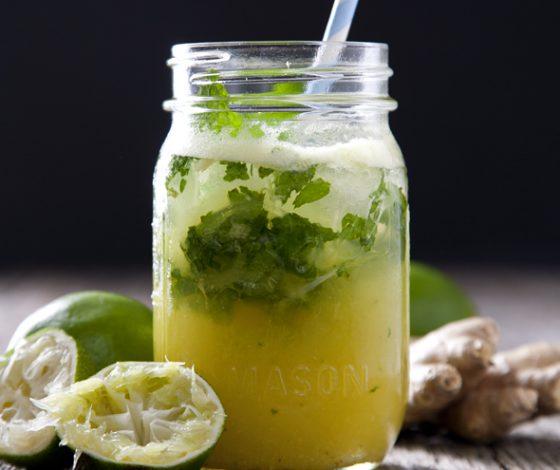 Pineapple Ginger Mojitos | picklesnhoney.com