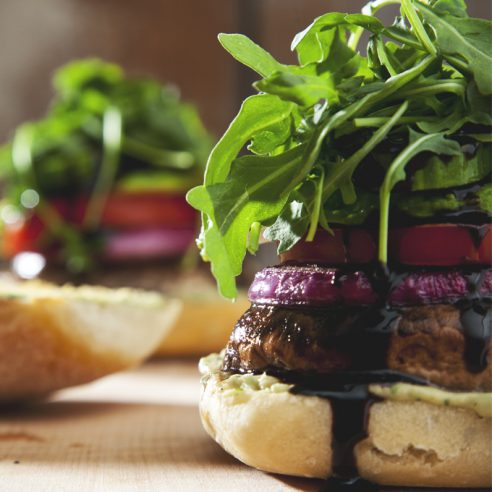 Easy Portobello Mushroom Burgers (Vegan) | picklesnhoney.com