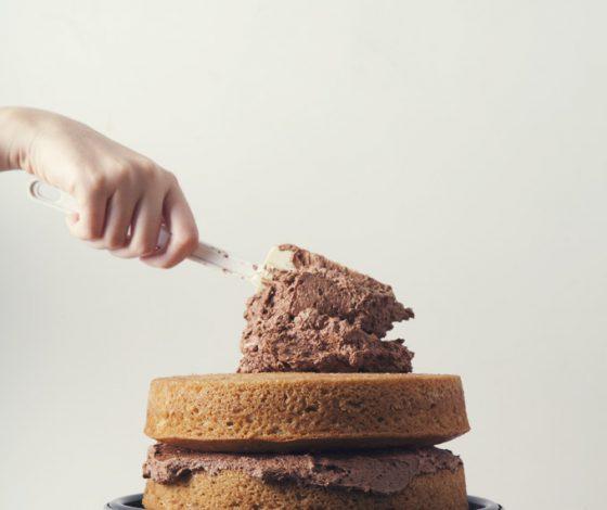 Easy 2-Layer Vanilla Birthday Cake (Vegan) | picklesnhoney.com