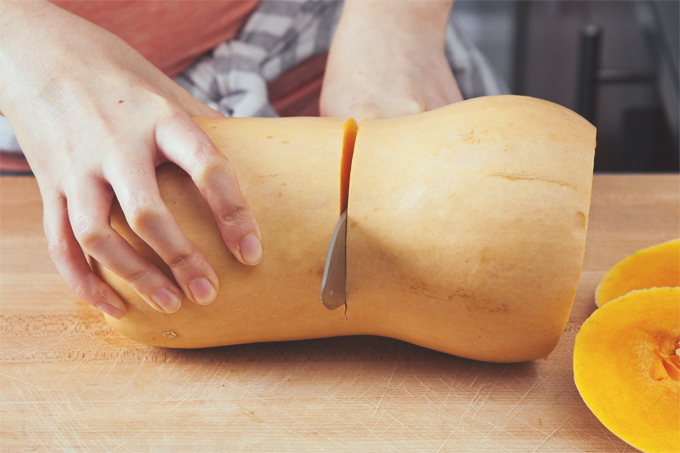 How to (easily) Peel and Cut a Butternut Squash Like a Pro | picklesnhoney.com