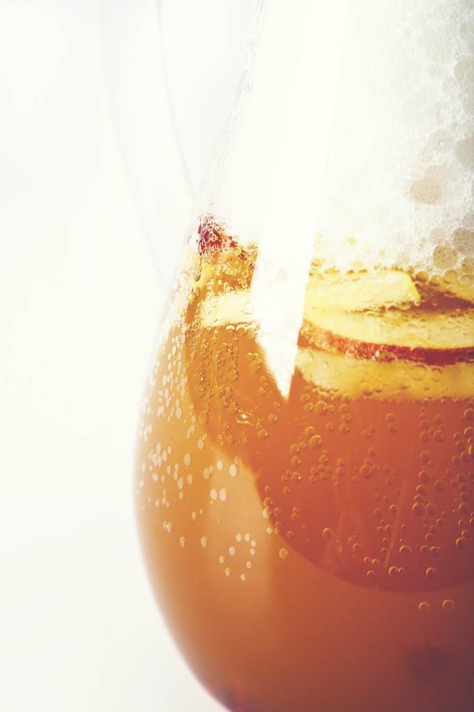 Sparkling Pomegranate Apple Cider Sangria   picklesnhoney.com