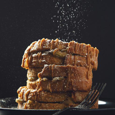 Caramel Apple-Stuffed French Toast (Vegan & Nut-Free) | picklesnhoney.com