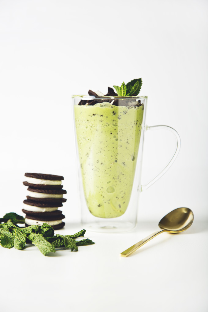 Vegan Mint Oreo Blizzard | picklesnhoney.com