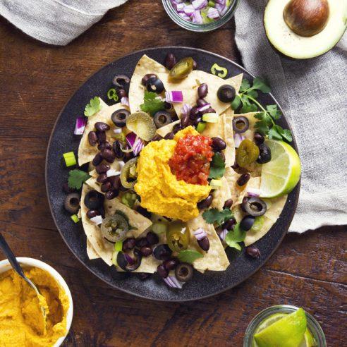 Easy Loaded Vegan Nachos | picklesnhoney.com