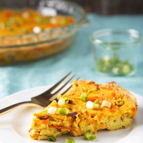 Crustless Vegan Quiche Lorraine | picklesnhoney.com