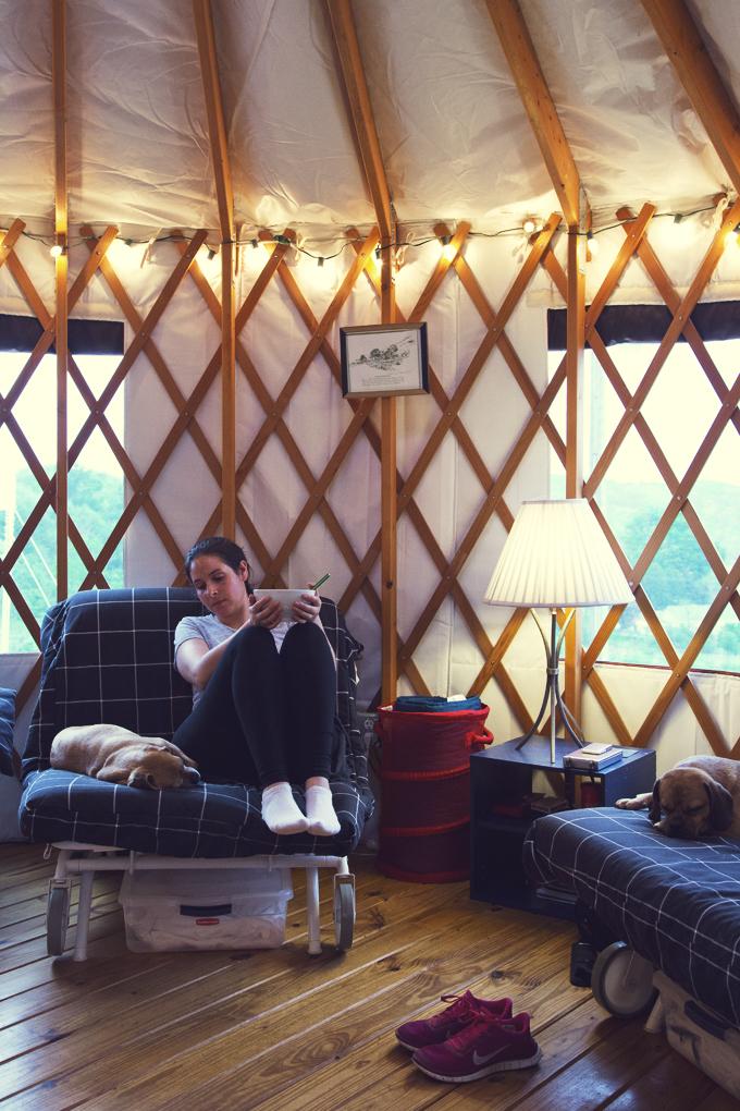 #PHroadtrip Week 2: Yurt in Waterville, NY | picklesnhoney.com