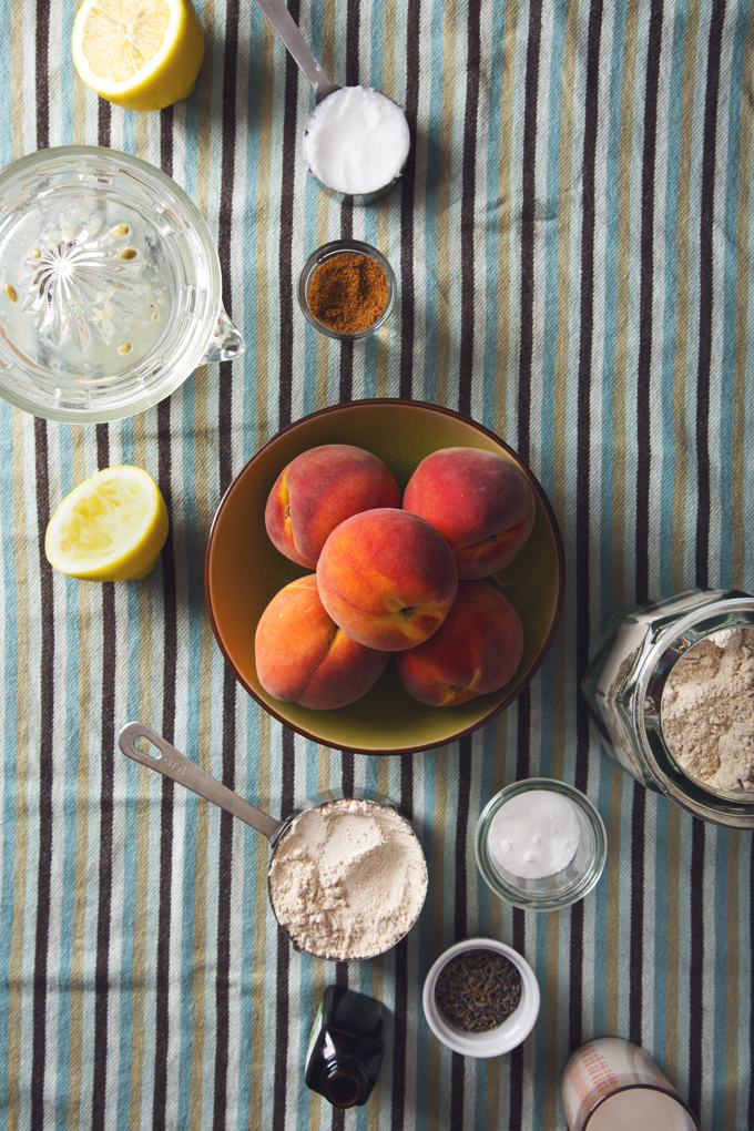 Whole Grain Lavender Peach-Stuffed Scones   picklesnhoney.com #vegan