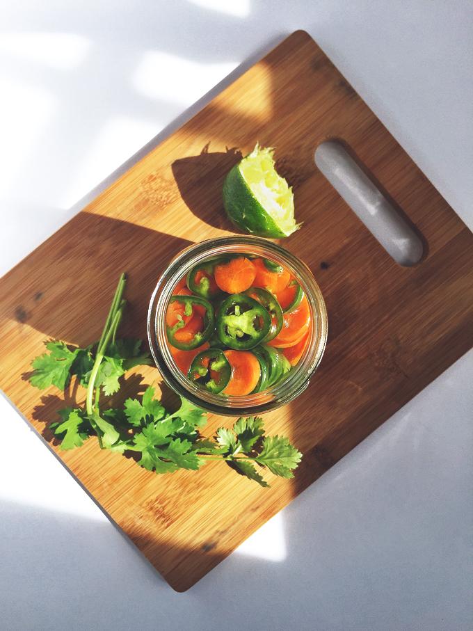 Tofu Banh Mi Breakfast Sandwich   picklesnhoney.com #vegan #recipe #banhmi #sandwich #breakfast