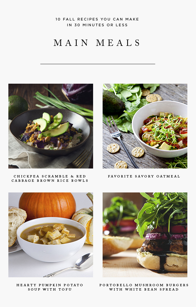 10 Fall Recipes You Can Make in 30 Minutes or Less   picklesnhoney.com #vegan #recipes