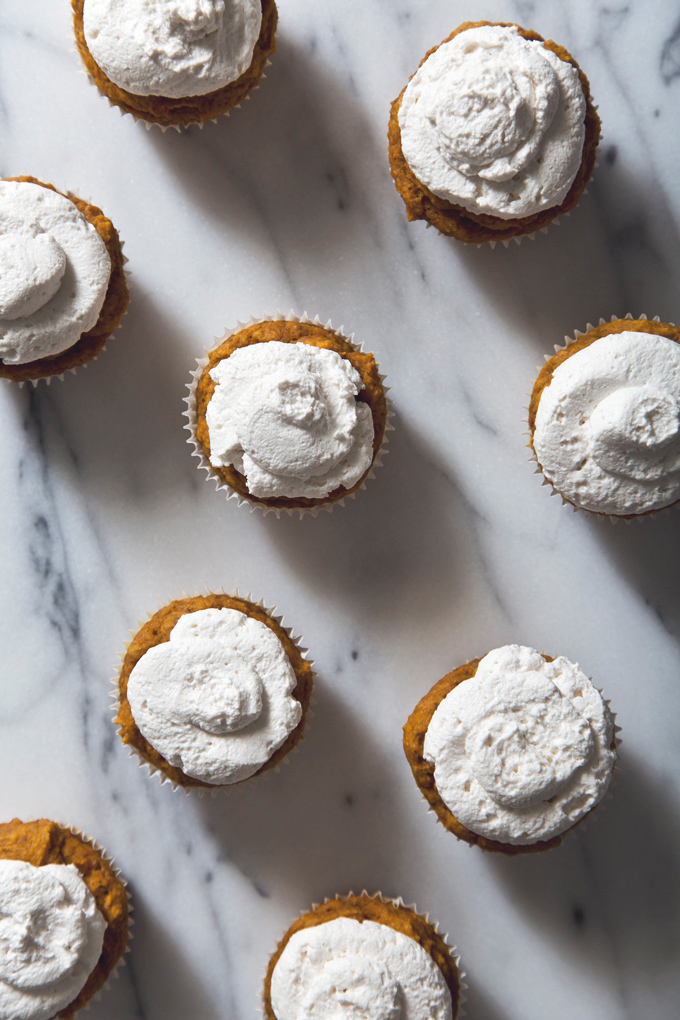 Pumpkin Muffins with Honey Coconut Whipped Cream | picklesnhoney.com #eggfree #dairyfree #pumpkin #muffins #recipe