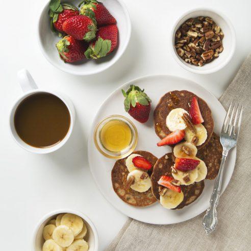 7 Ingredient Banana Protein Pancakes | picklesnhoney.com #vegan #glutenfree #pancakes #breakfast
