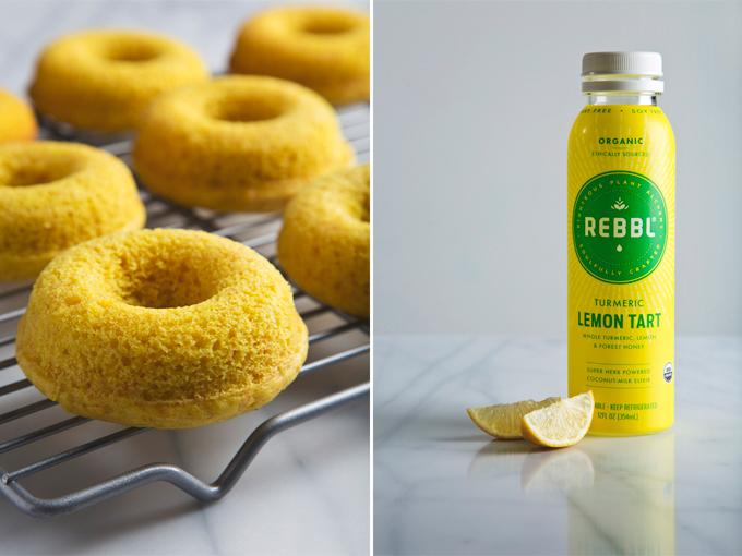 Turmeric Lemon Coconut Donuts | picklesnhoney.com #donuts #coconut #turmeric #lemon #dessert