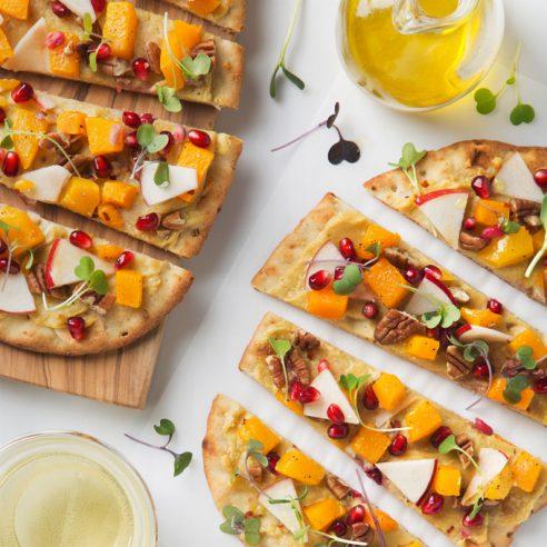 Apple & Butternut Squash Flatbread | picklesnhoney.com #vegan #flatbread #recipe #butternut #squash #apple