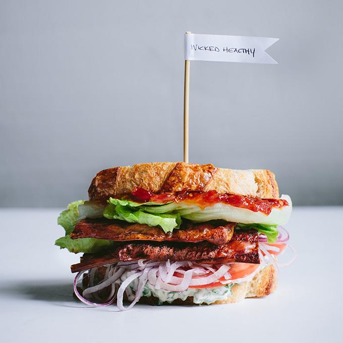 The Best Vegan BLT (with Rice Paper Bacon)   picklesnhoney.com #blt #sandwich #vegan #recipe