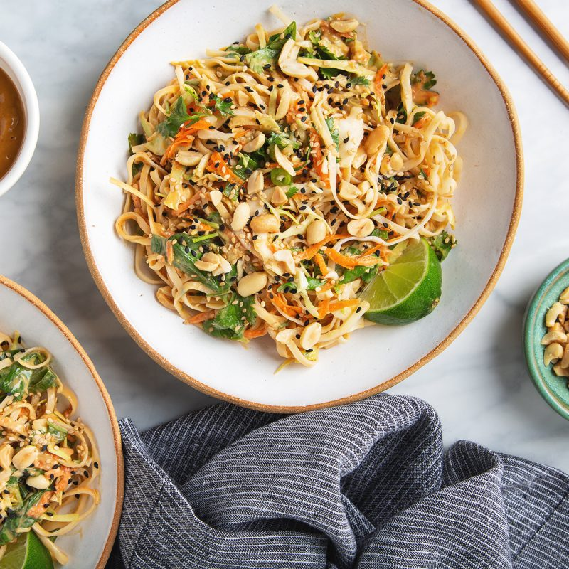 Better-Than-Takeout Thai Noodle Salad with Peanut Dressing | picklesnhoney.com #vegan #thai #noodles #salad #recipe #lunch #dinner