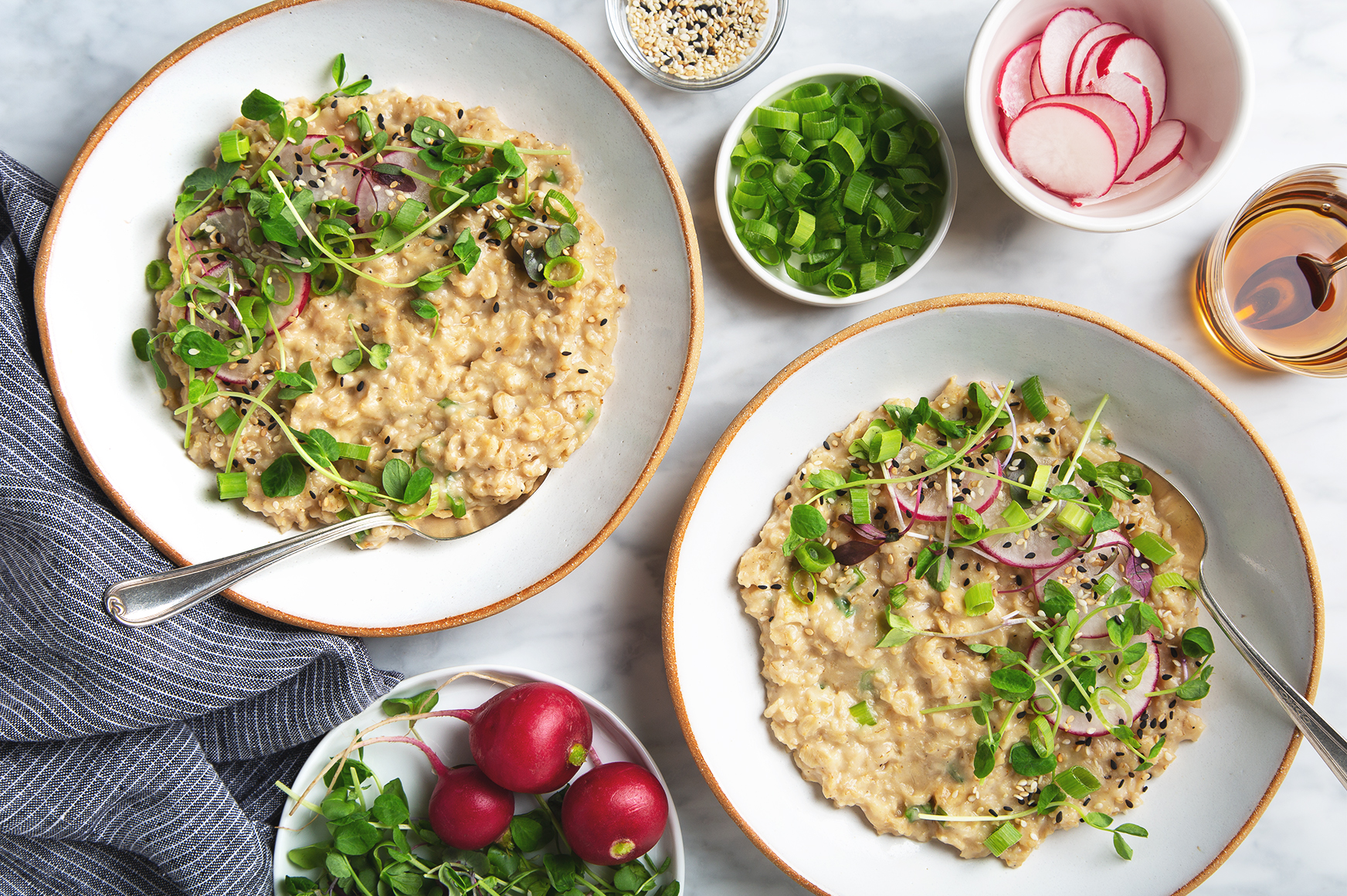 15-Minute Savory Sesame Miso Oats! (Vegan & Gluten-Free) | picklesnhoney.com #lunch #dinner #savory #oatmeal #recipe