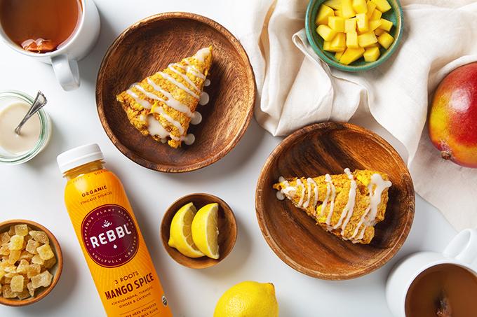 Gluten-Free Mango Spiced Scones | picklesnhoney.com #mango #scones #vegan #glutenfree #recipe